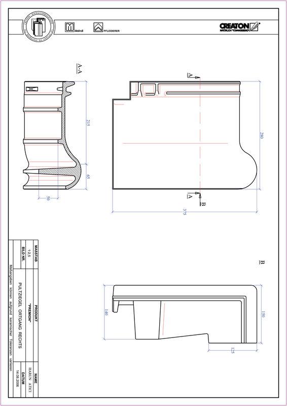 CAD soubor tašky PREMION pultová taška krajní pravá PULTOGR