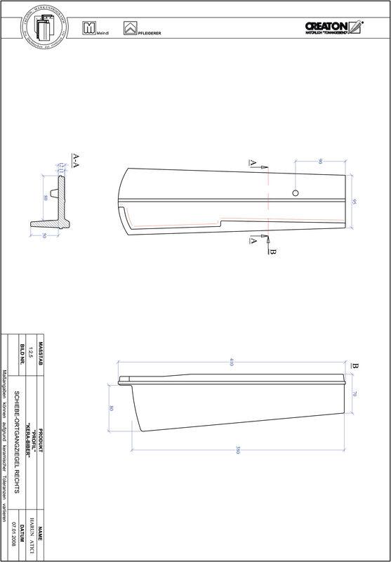 CAD soubor tašky PROFIL segmentový řez KERA-SAECHS-18-CM-OGR