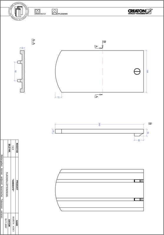 CAD soubor tašky AMBIENTE segmentový řez SEG-FLUEFTZ
