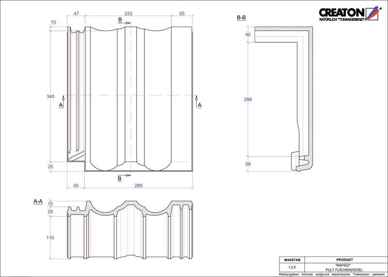 CAD soubor tašky RAPIDO pultová taška PULTFLA