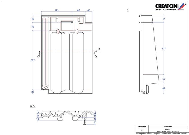 CAD soubor tašky RAPIDO krajní taška pravá OGR