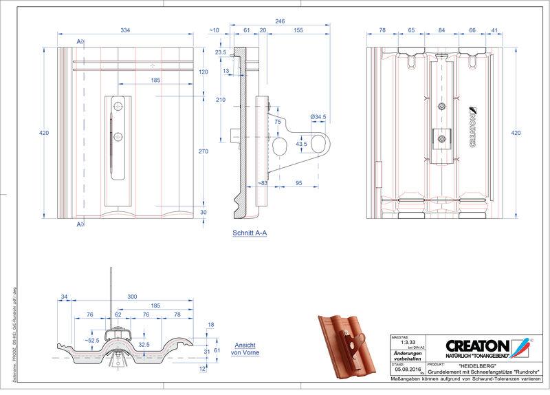 CAD soubor tašky HEIDELBERG zákl. taška Rundrohr