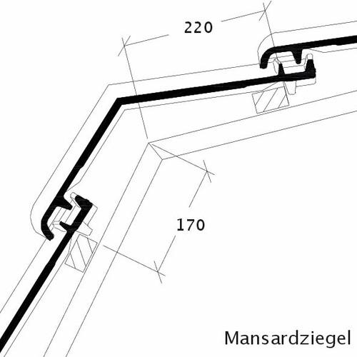 Technický výkres tašky Mansardový obklad BALANCE MAZ