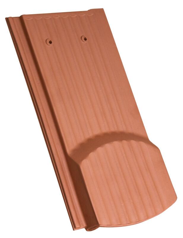 Drážková bobrovka vlnitý povrch segmentový tvar větrací taška