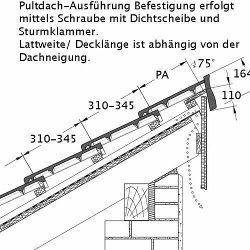 Technický výkres tašky HEIDELBERG PDA PROFILIERTE-BDS