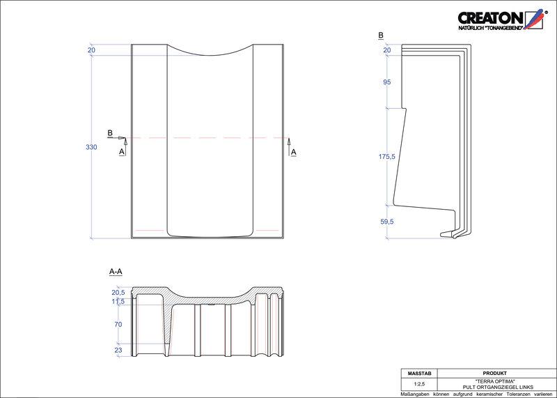 CAD soubor tašky TERRA OPTIMA pultová taška krajní levá PULTOGL