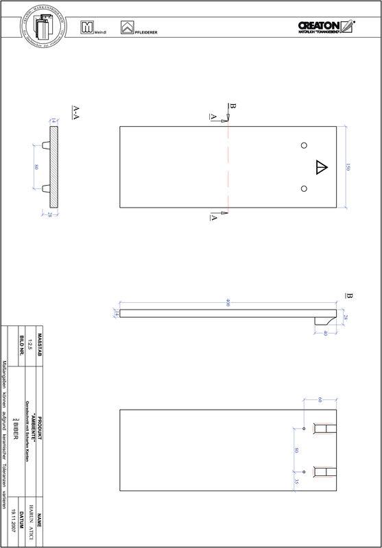 CAD soubor produktu AMBIENTE rovný řez GER-3-4