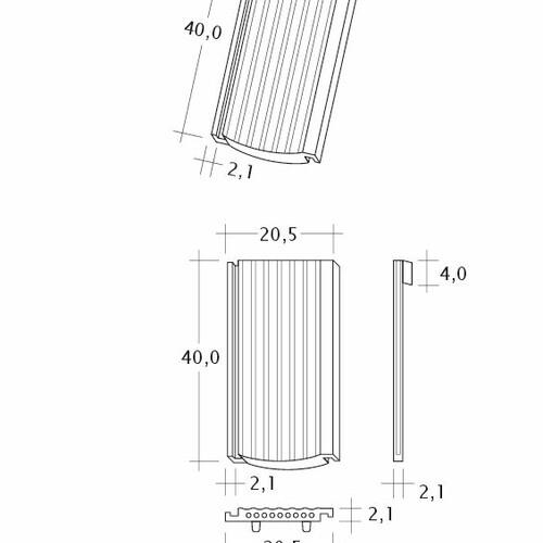 Technický výkres tašky PROFIL Strangfalz-gewellt-1-1