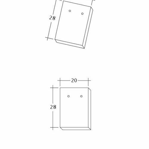 Technický výkres tašky AMBIENTE Ger-Firstanschluss