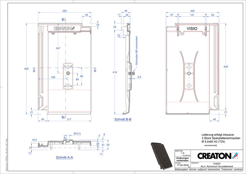 CAD soubor tašky VISIO hliníková základní taška GRUNDALU