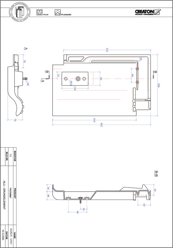 CAD soubor tašky FUTURA hliníková základní taška GRUNDALU