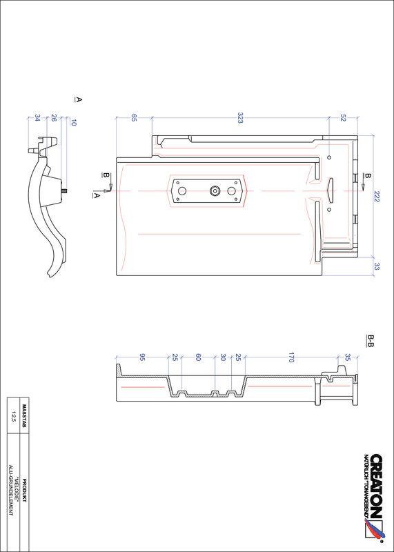CAD soubor tašky MELODIE hliníková základní taška GRUNDALU