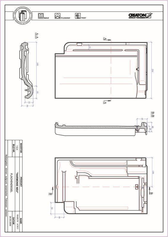 CAD soubor tašky HARMONIE střešní taška FLA