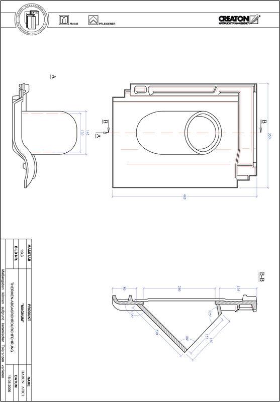 CAD soubor tašky MAGNUM prostupová taška pro odvod spalin THERME