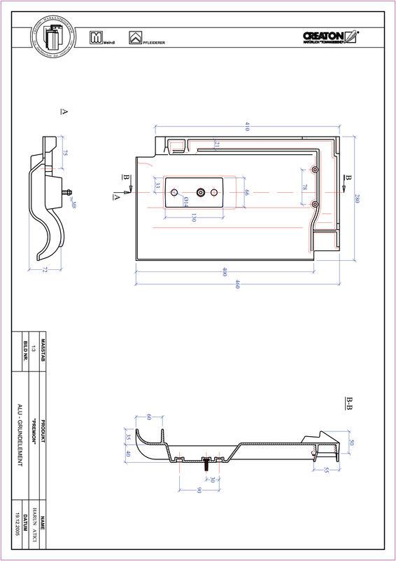 CAD soubor tašky PREMION hliníková základní taška GRUNDALU