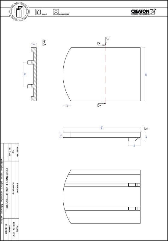 CAD soubor tašky AMBIENTE segmentový řez SEG-FALZ