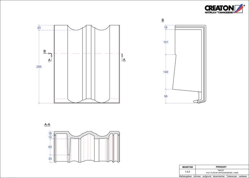 CAD soubor tašky RATIO pultová taška krajní levá PULTOGL