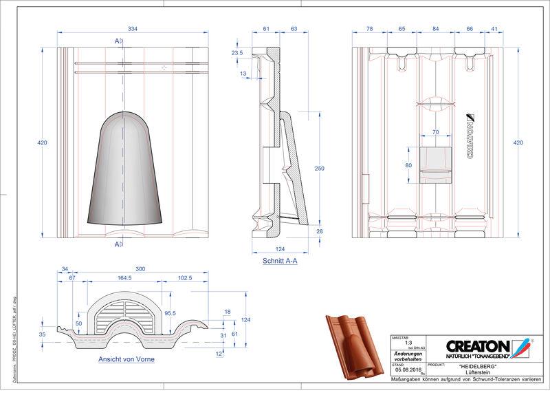 CAD soubor tašky HEIDELBERG větrací taška Luefterstein