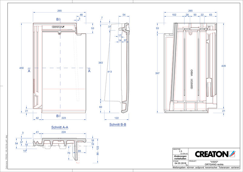 CAD soubor tašky VISIO krajní taška pravá OGR