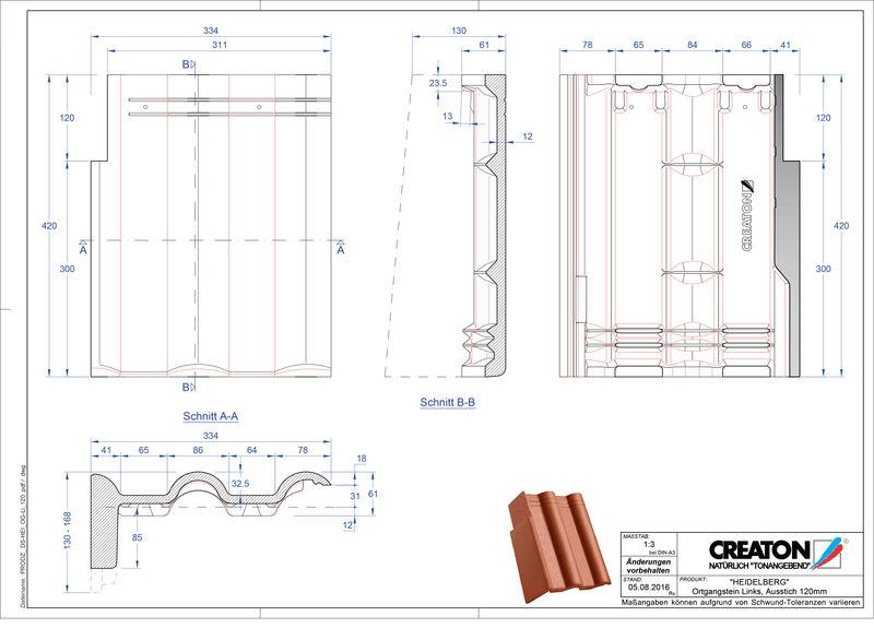 CAD soubor tašky HEIDELBERG pultová taška krajní levá PultOGL-120