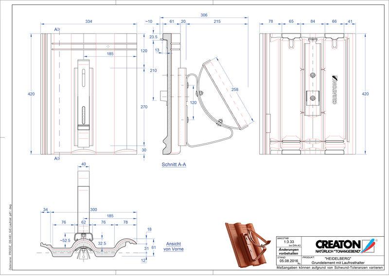 CAD soubor tašky HEIDELBERG zákl. taška Laufrost