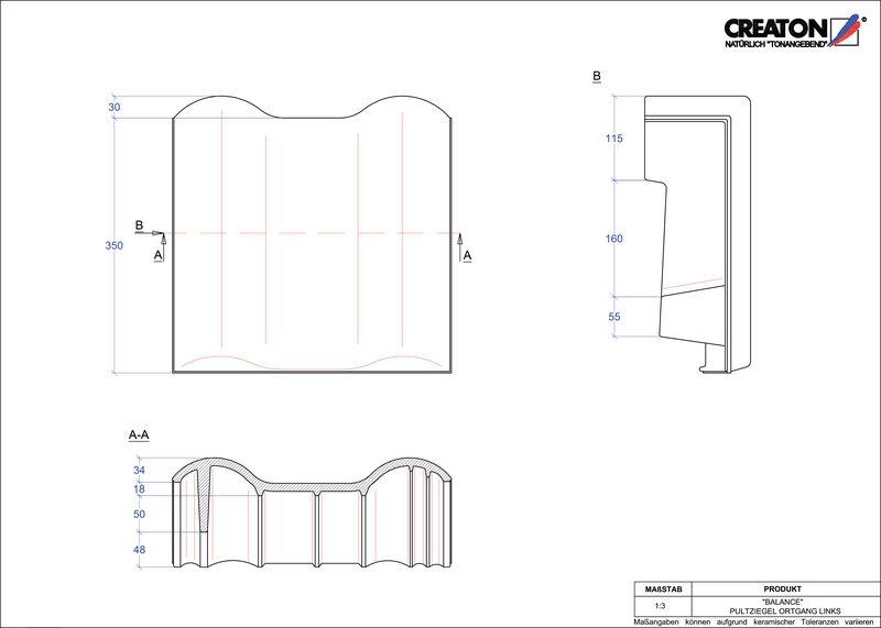 CAD soubor tašky BALANCE pultová taška krajní levá PULTOGL