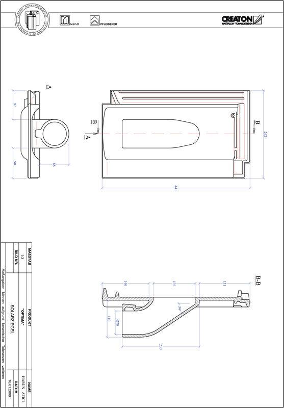 CAD soubor tašky TERRA OPTIMA prostupová taška pro solární systémy SOLAR