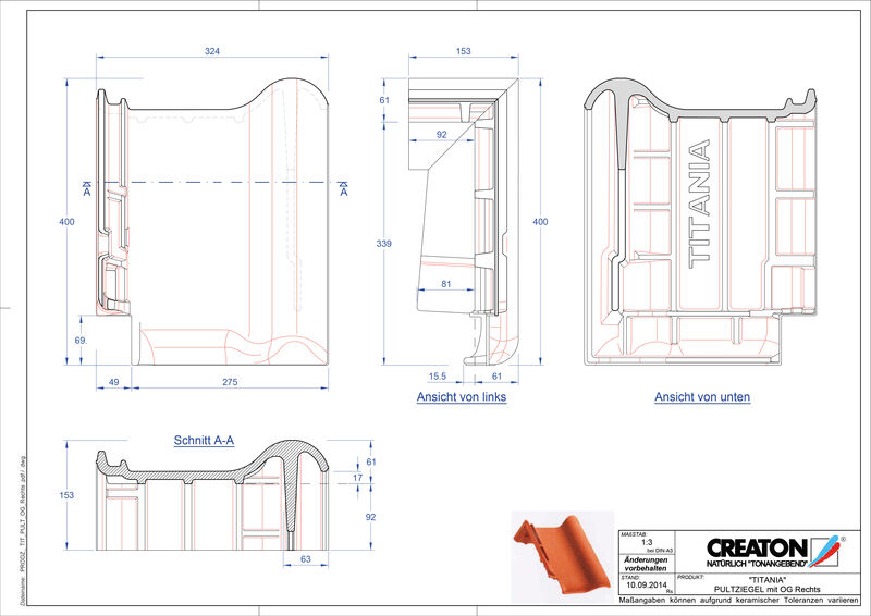 CAD soubor tašky TITANIA pultová taška krajní pravá PULTOGR