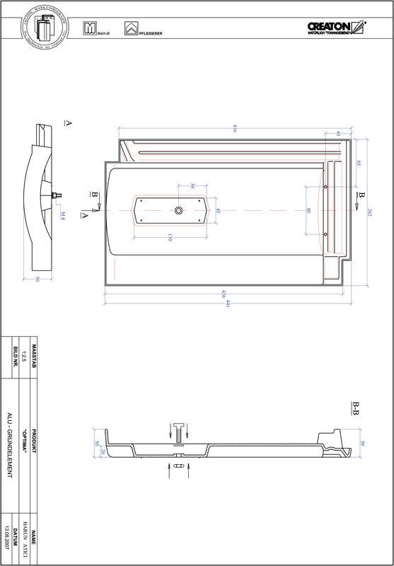 CAD soubor tašky TERRA OPTIMA hliníková základní taška GRUNDALU