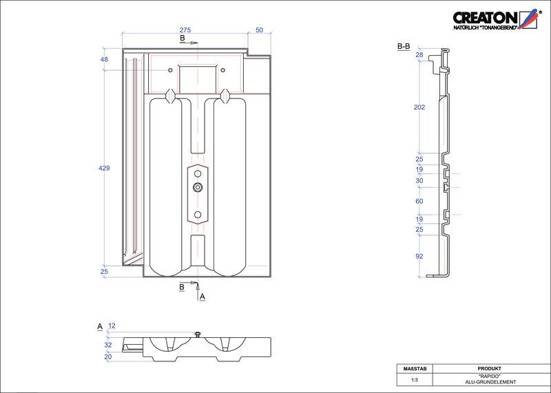 CAD soubor tašky RAPIDO hliníková základní taška GRUNDALU