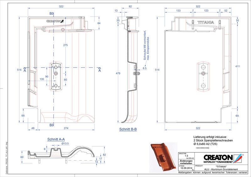 CAD soubor tašky TITANIA hliníková základní taška GRUNDALU