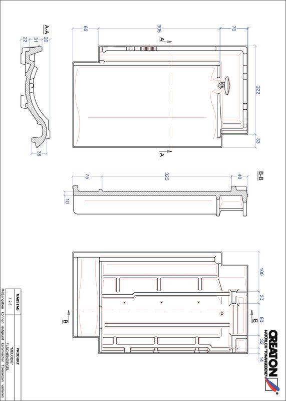 CAD soubor tašky MELODIE střešní taška FLA