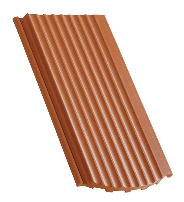 Drážková bobrovka vlnitý povrch segmentový tvar základní větrací taška