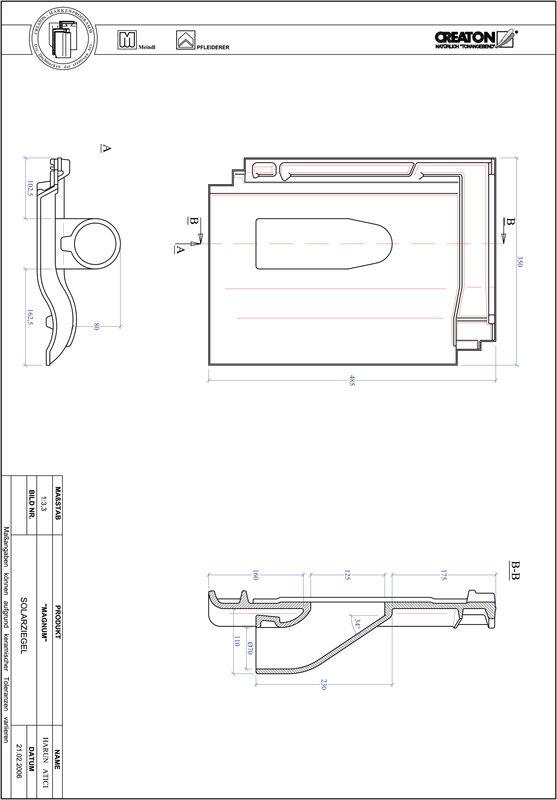 CAD soubor tašky MAGNUM prostupová taška pro solární systémy SOLAR