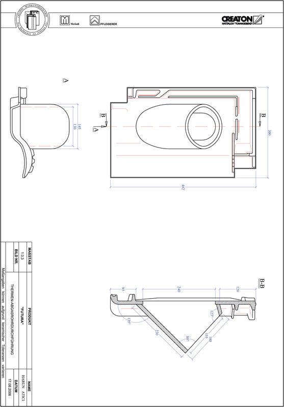 CAD soubor tašky FUTURA  prostupová taška pro odvod spalin THERME