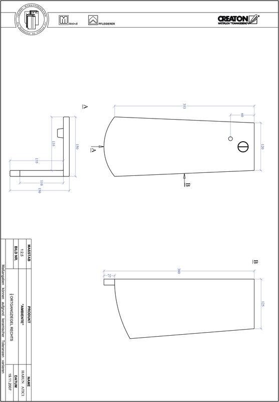 CAD soubor tašky AMBIENTE segmentový řez SEG-OGR-3-4