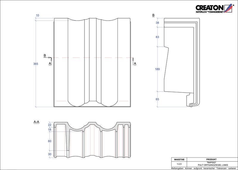 CAD soubor tašky RAPIDO pultová taška krajní levá PULTOGL