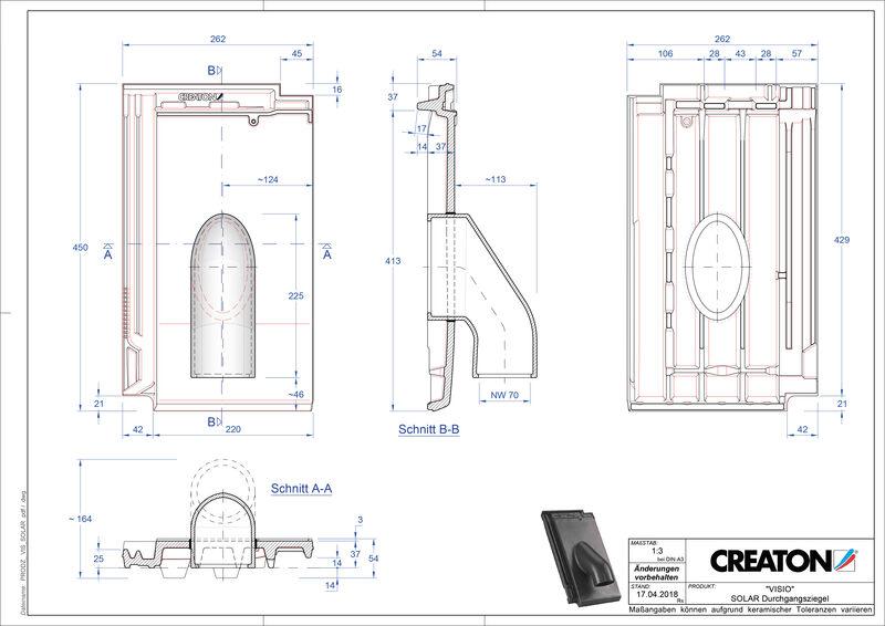 CAD soubor tašky VISIO prostupová taška pro solární systémy SOLAR