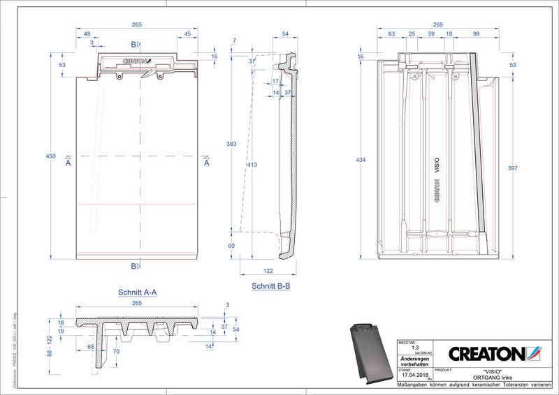 CAD soubor tašky VISIO krajní taška levá OGL