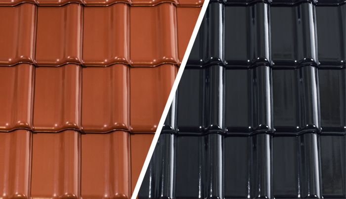 Pálená střešní taška CREATON – s povrchovou úpravou glazura