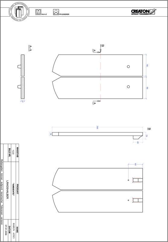 CAD soubor tašky AMBIENTE segmentový řez SEG-LH