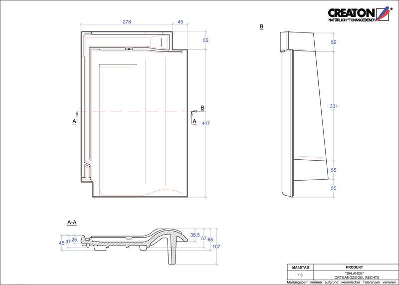 CAD soubor tašky BALANCE krajní taška pravá OGR
