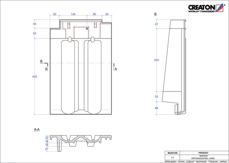 CAD soubor tašky RAPIDO krajní taška levá OGL