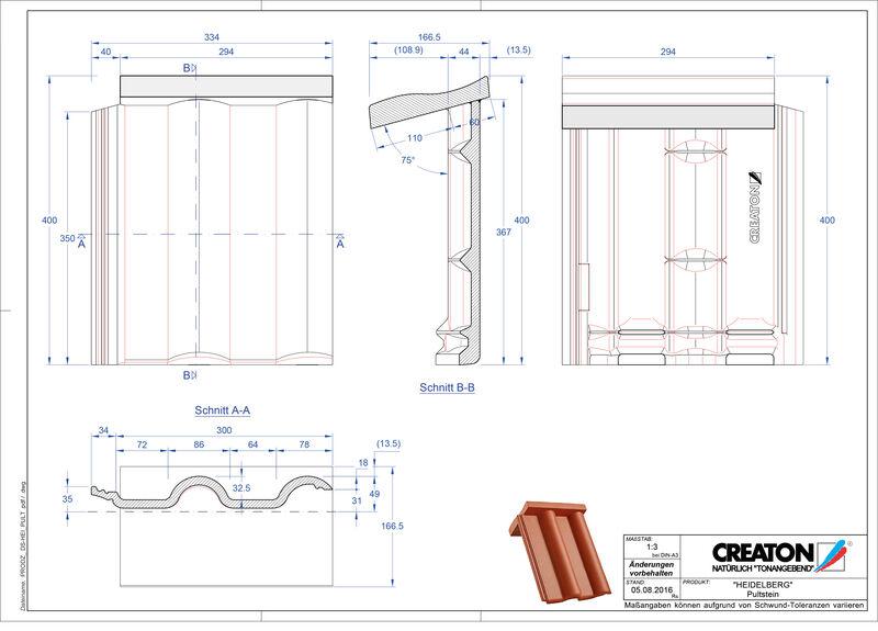 CAD soubor tašky HEIDELBERG krajní taška pravá PULTSTEIN