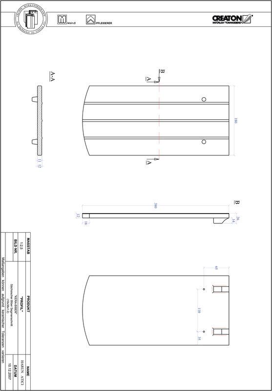 CAD soubor tašky PROFIL segmentový řez KERA-SAECHS-18-CM-1-1