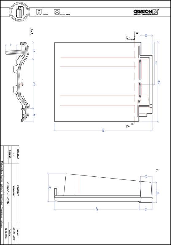 CAD soubor tašky MAGNUM krajní taška levá OGL