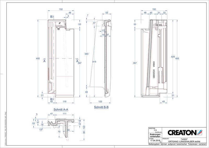 CAD soubor tašky VISIO poloviční taška krajní pravá LHOGR