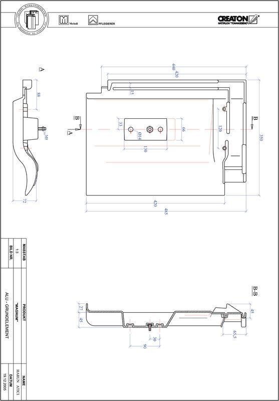 CAD soubor tašky MAGNUM hliníková základní taška GRUNDALU