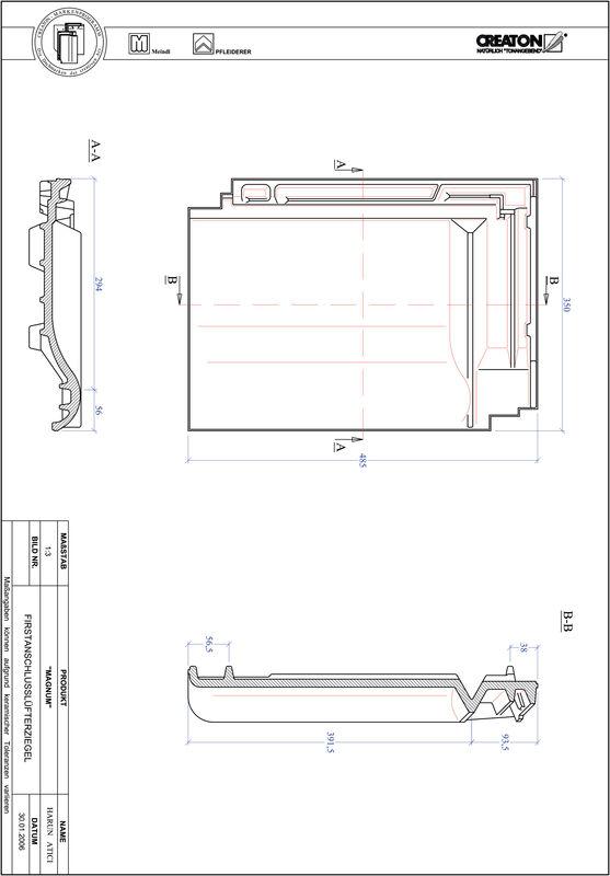CAD soubor tašky MAGNUM podhřebenová větrací taška FALZ