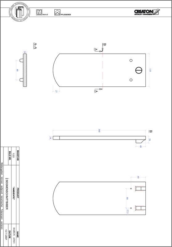 CAD soubor tašky AMBIENTE segmentový řez SEG-3-4